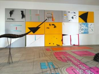 """Composición mural """"Contextualizaciónes"""", Can Ricart, 2016"""