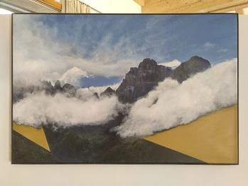 Brenta, nuvole e giallo, 2017. 54x81cm