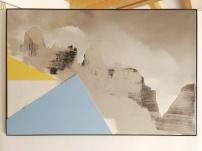 Brenta, giallo e azzurro, 2017. 54x81cm